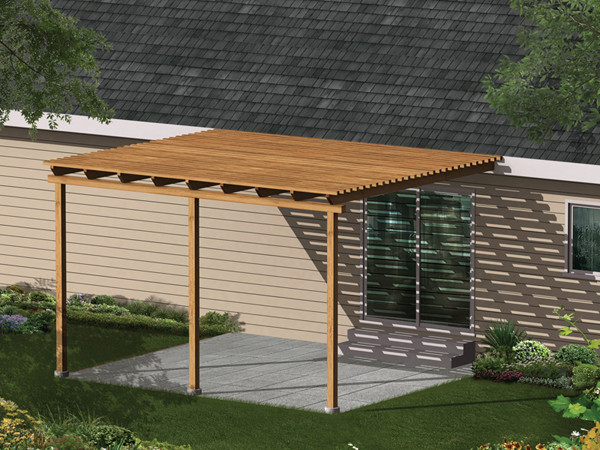 Patio Cover Plans DIY  Kelsey Patio Cover Plan 002D 3015