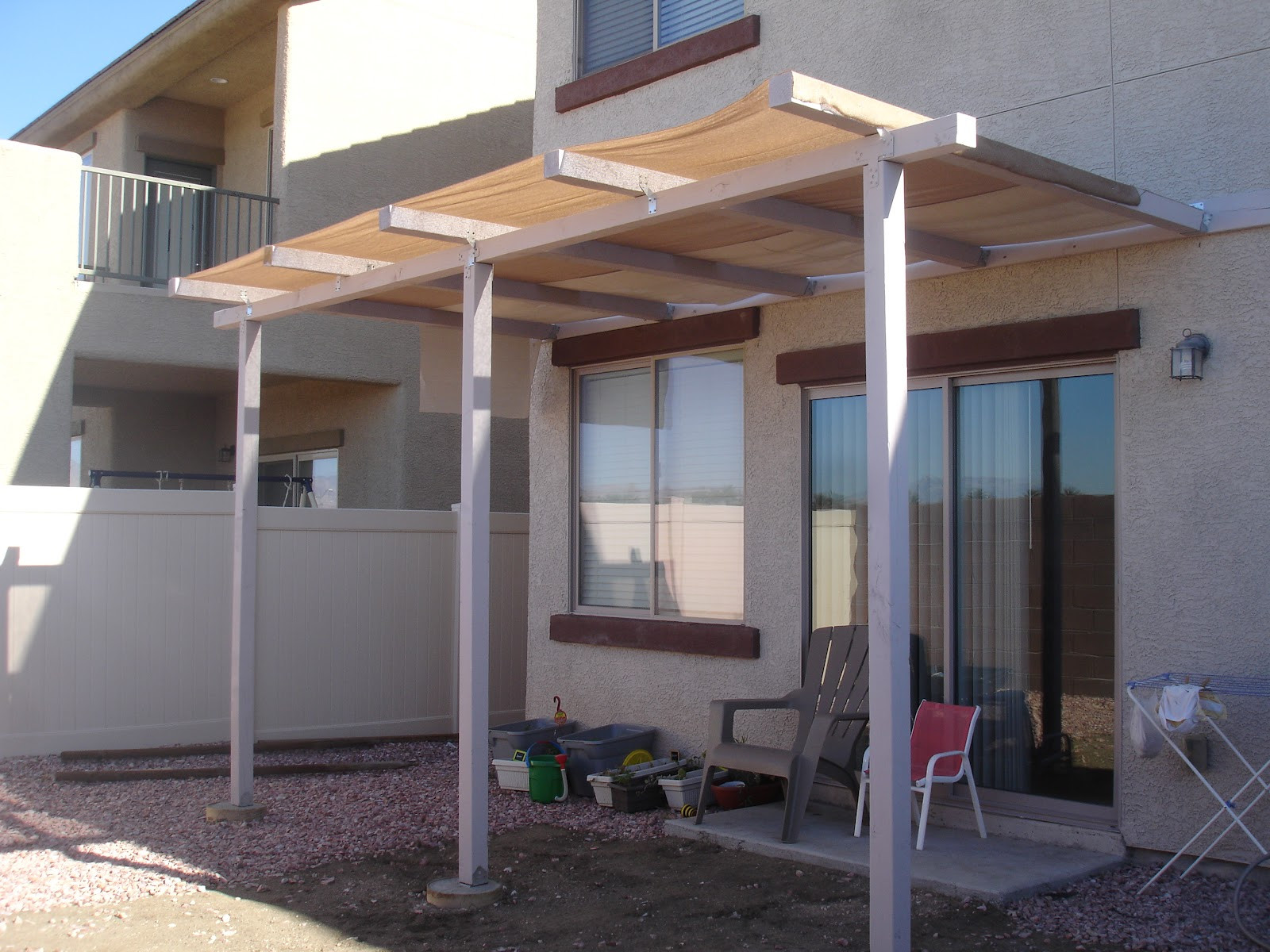 Patio Cover Plans DIY  Alex Haralson Update Our DIY Patio Cover