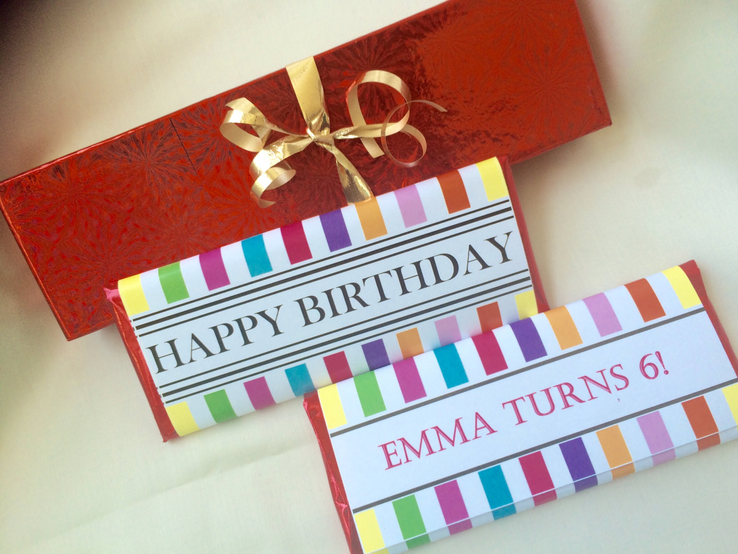 Personalized Birthday Decorations  Birthday party favors personalized candy bar by UpANotchGifts