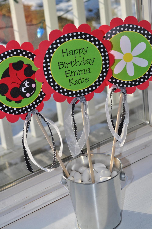 Personalized Birthday Decorations  Ladybug Birthday Banner – Girls Birthday Party