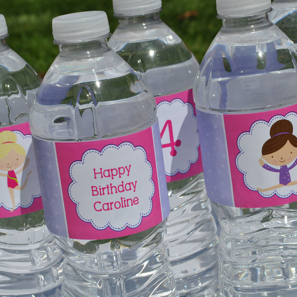 Personalized Birthday Decorations  10 Personalized Water Bottle Labels by sosweetpartyshop on