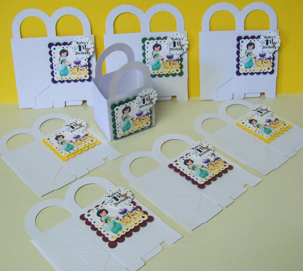Personalized Birthday Decorations  8 ALADDIN S JASMINE Personalized boxes birthday party