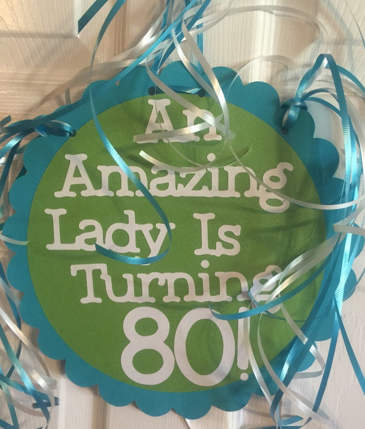 Personalized Birthday Decorations  80th Birthday Decorations Giant Personalized Party Signs