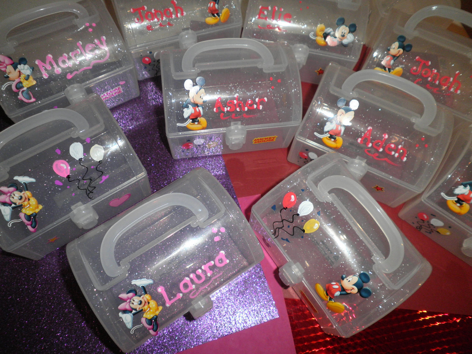 Personalized Birthday Decorations  Party Favors Personalized Boys and Girls Minnie and Mickey