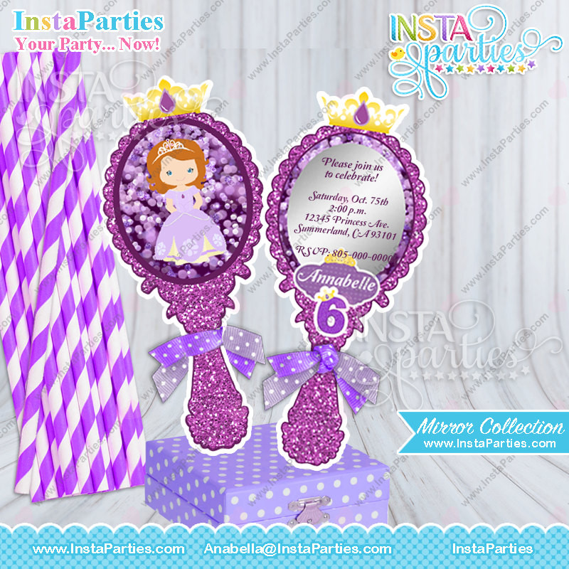 Personalized Birthday Decorations  Princess Sofia centerpieces birthday party First Sofia