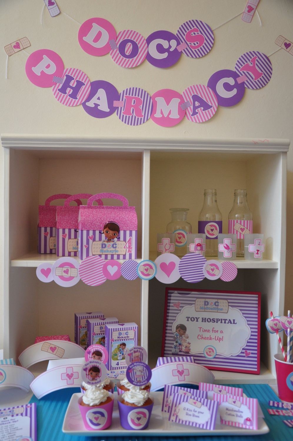 Personalized Birthday Decorations  Doc McStuffins party decorations package PERSONALIZED Doctor