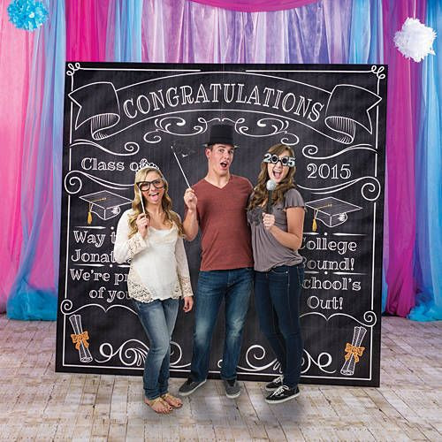 Photo Booth Ideas For Graduation Party  Our Graduation Chalkboard Booth Prop has the look of