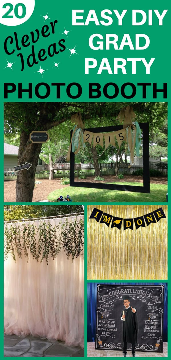Photo Booth Ideas For Graduation Party  Grad Party Booth Ideas Easy DIY Booth Hacks