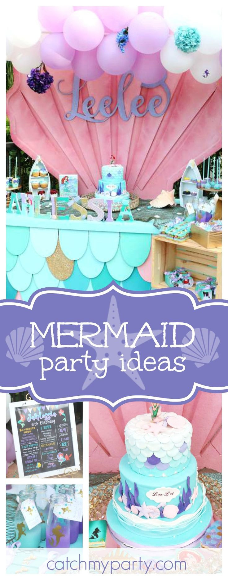 Pinterest Mermaid Party Ideas  3929 best Mermaid Party images on Pinterest