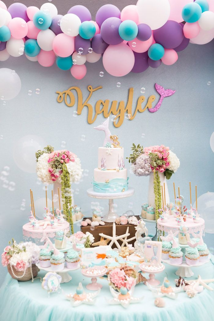 Pinterest Mermaid Party Ideas  Pastel Mermaid Birthday Party on Kara s Party Ideas