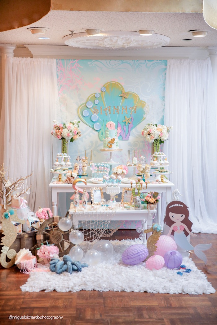 Pinterest Mermaid Party Ideas  Kara s Party Ideas Pastel Mermaid Birthday Party