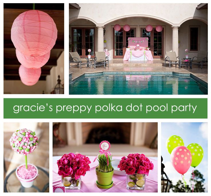 Pool Party Baby Shower Ideas  34 best images about PINK AND GREEN PREPPY PARTY on