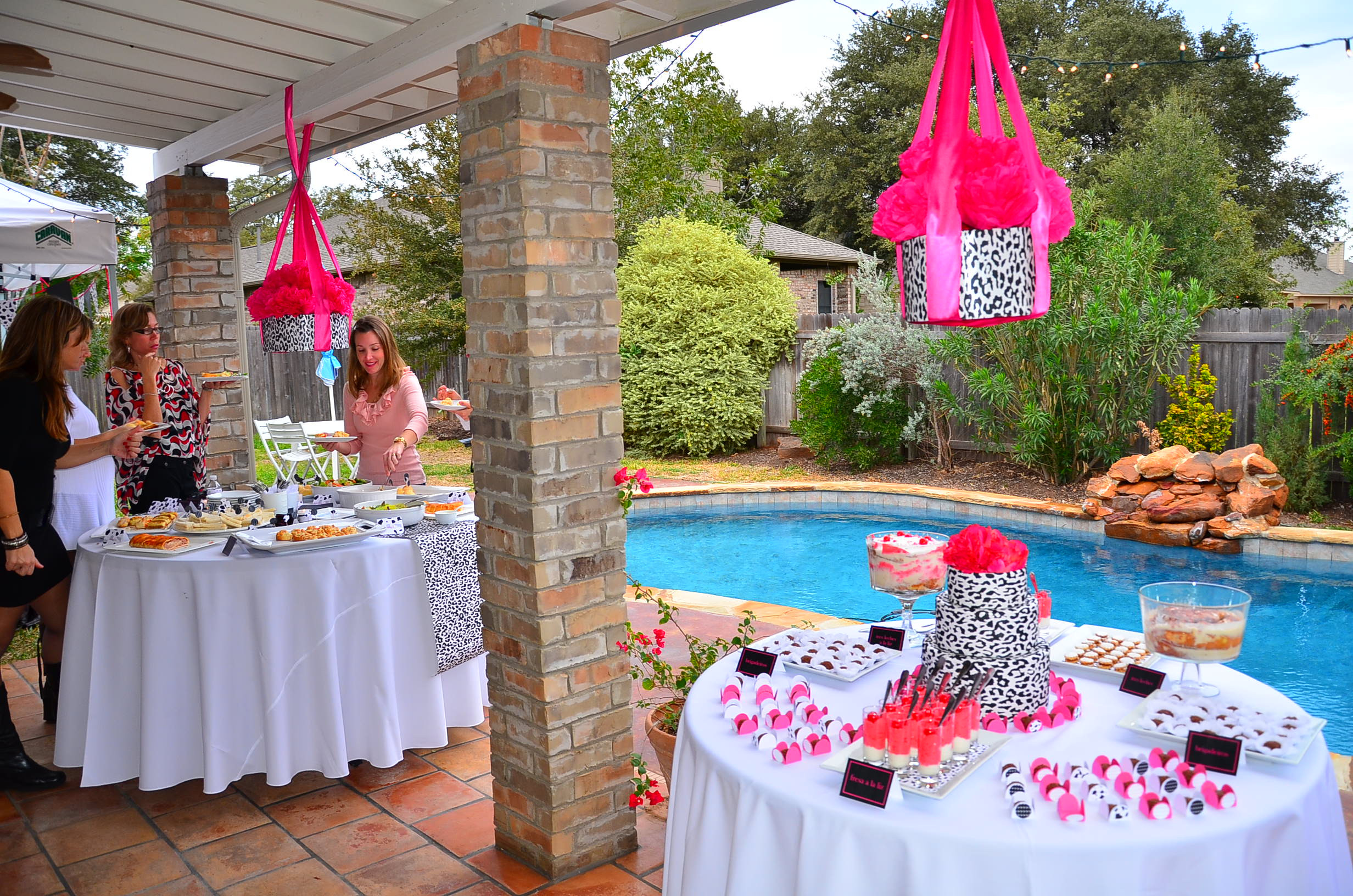 Pool Party Baby Shower Ideas  dessert table
