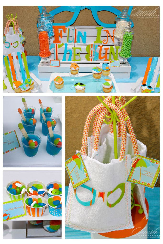 Pool Party Baby Shower Ideas  92 best images about Little Swimmer Baby Shower Pool