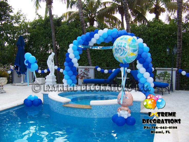 Pool Party Baby Shower Ideas  239 best Balloons OutDoor images on Pinterest