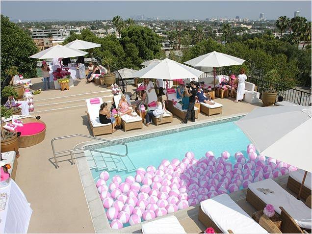 Pool Party Baby Shower Ideas  kourtney kardashian baby shower for penelope Google
