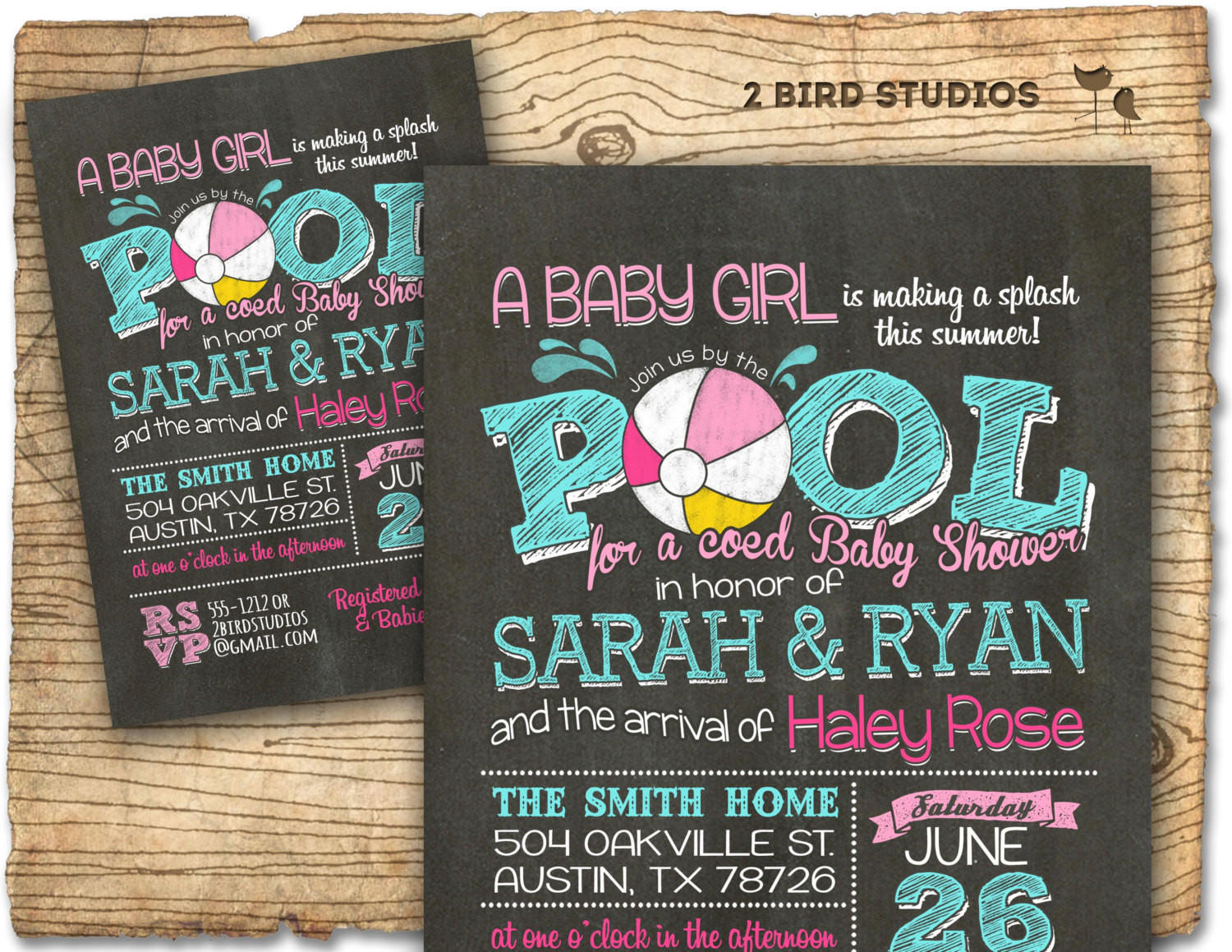 Pool Party Baby Shower Ideas  Pool party baby shower invitation summer baby shower coed