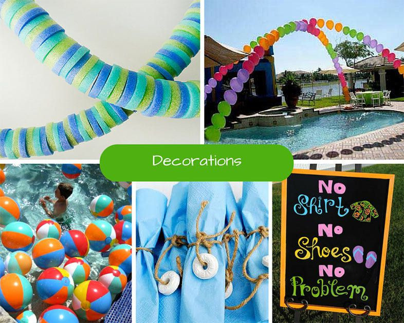 Pool Party Decorations Ideas  Kids Pool Party Ideas