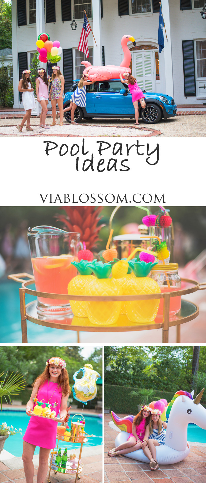 Pool Party Decorations Ideas  Pool Party Ideas Via Blossom