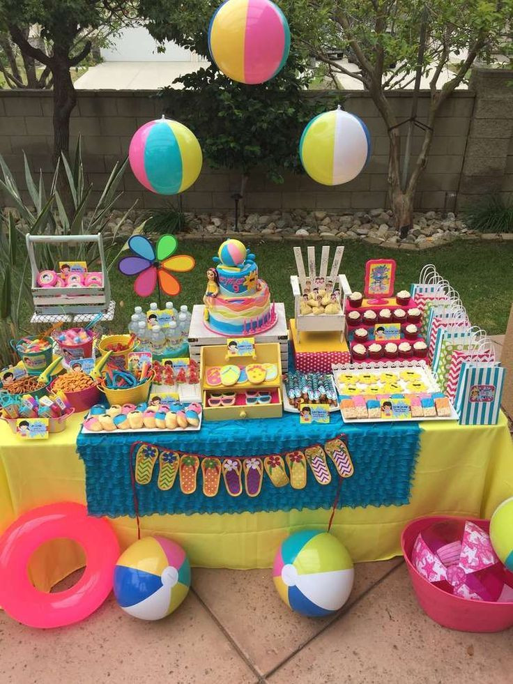Pool Party Decorations Ideas  Swimming Pool Summer Party Summer Party Ideas