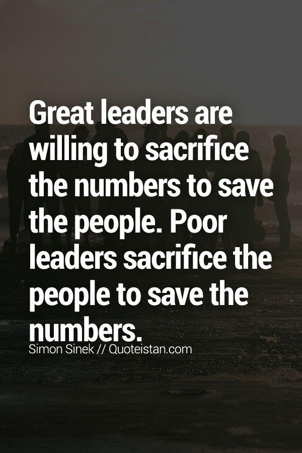 Poor Leadership Quote  Best 25 Sacrifice quotes ideas on Pinterest