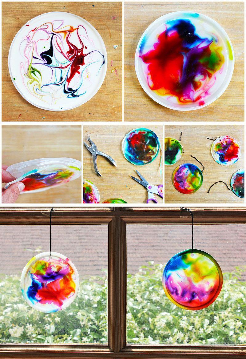 Preschool Arts And Crafts Ideas  Best 25 Kids suncatcher craft ideas on Pinterest