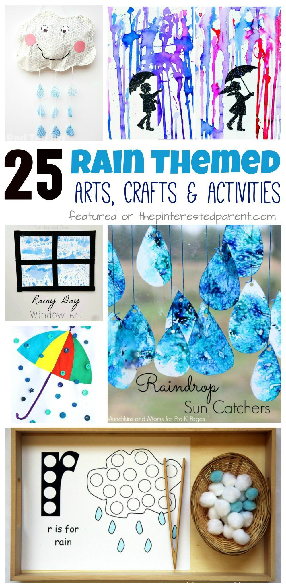 Preschool Arts And Crafts Ideas  25 Rain themed arts crafts and activities for the spring