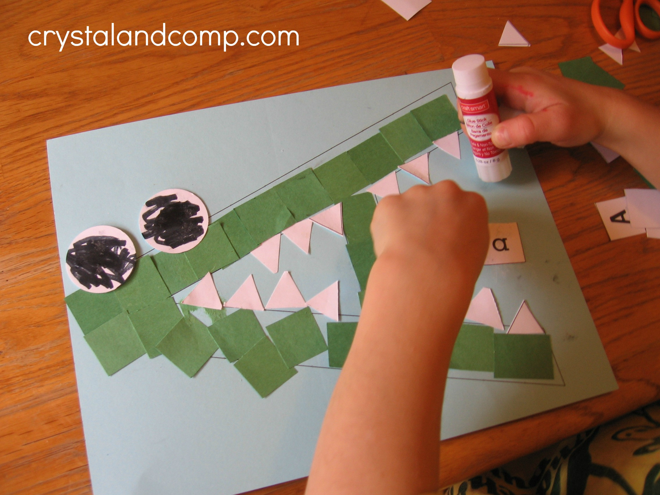 Preschool Arts And Crafts Ideas  Letter of the Week A is for Alligator