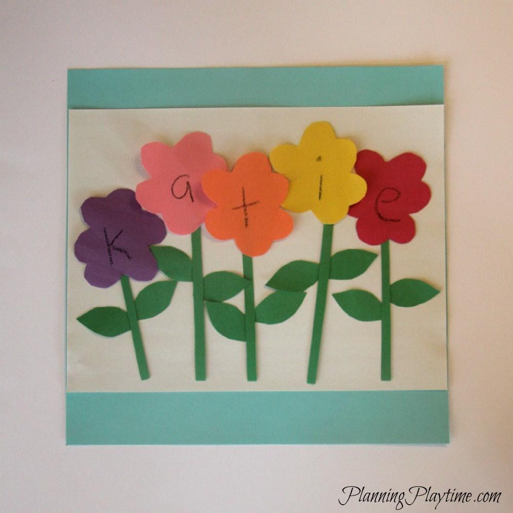 Preschool Arts Crafts  5 Adorable Preschool Name Crafts
