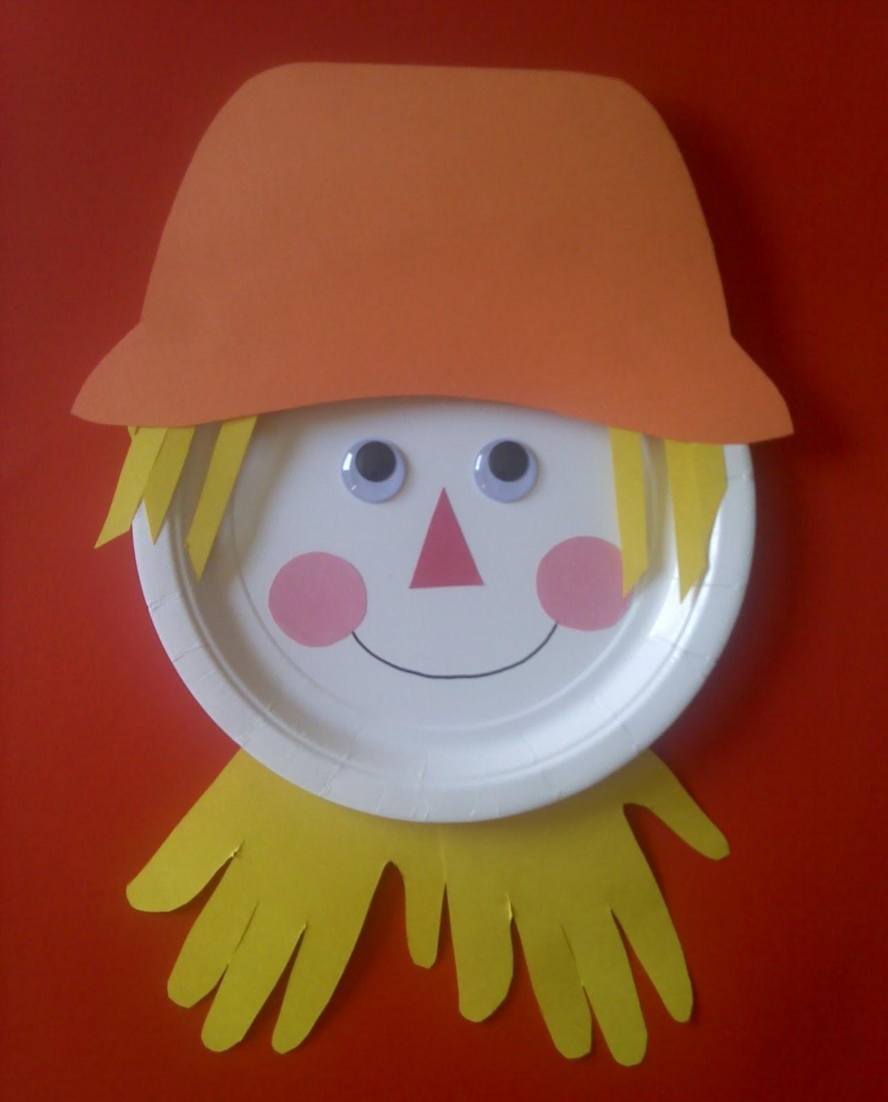 Preschool Arts Crafts  Crafts For Preschoolers Paper Plate Scarecrow