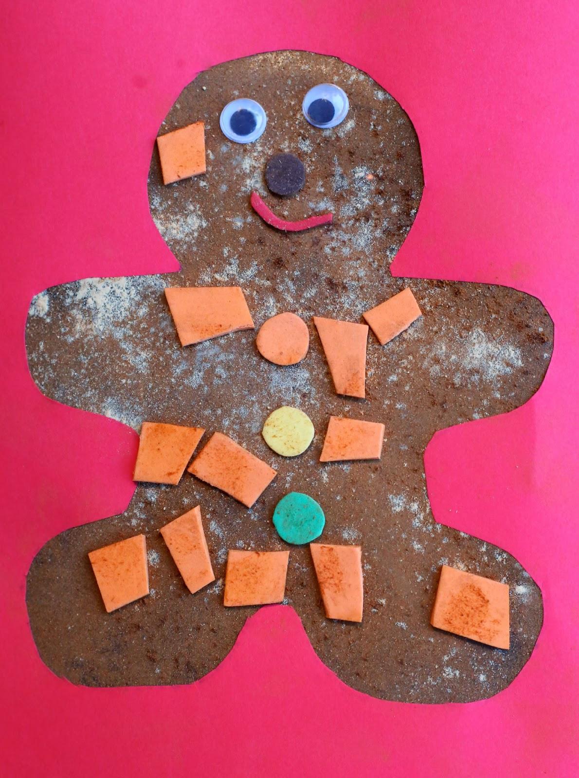 Preschool Arts Crafts  Christmas Craft for Kids Scented Gingerbread Man Art
