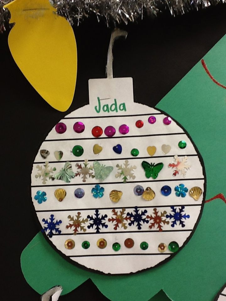 Preschool Christmas Ornament Craft Ideas  208 best Math Patterns & Relations Strand images on
