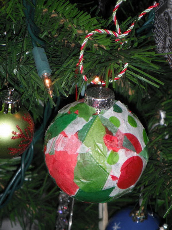 Preschool Christmas Ornament Craft Ideas  Creative Tissue Paper Crafts for Kids and Adults Hative