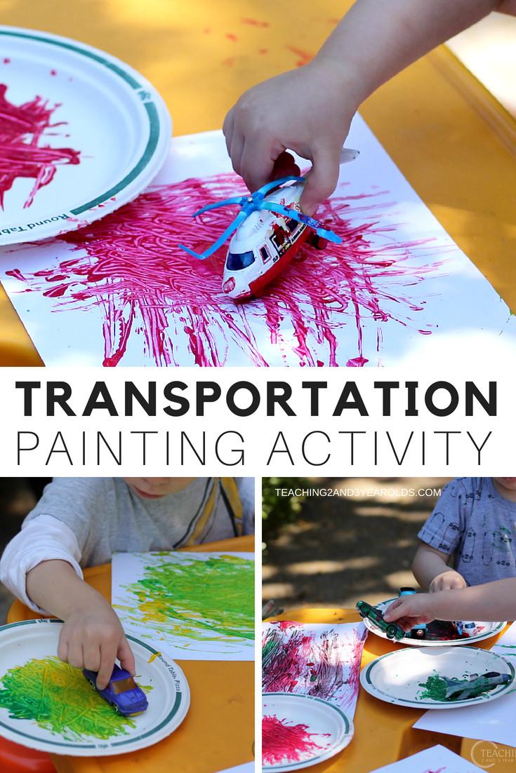 Preschool Crafts Activities  Preschool Transportation Activity that Involves Sorting