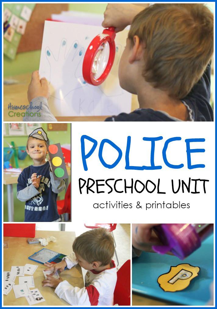Preschool Crafts Activities  Police fice Preschool and Kindergarten Unit