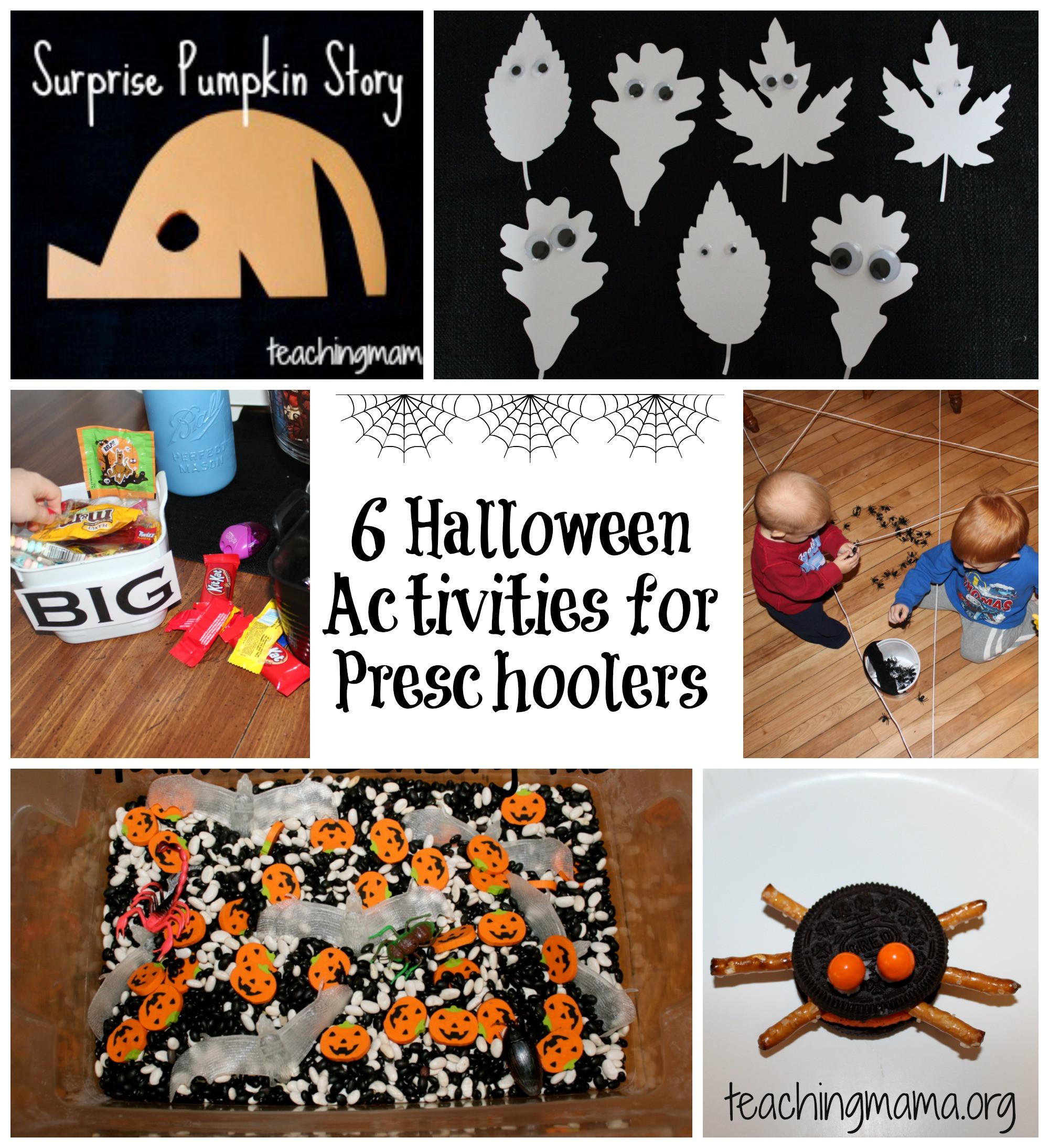 Preschool Crafts Activities  6 Halloween Activities for Preschoolers