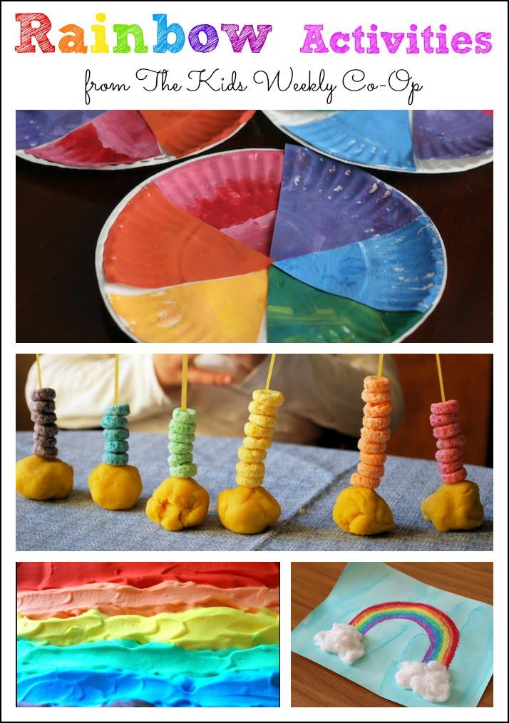 Preschool Crafts Activities  25 Rainbow Sensory Activities for Preschoolers Mess for Less
