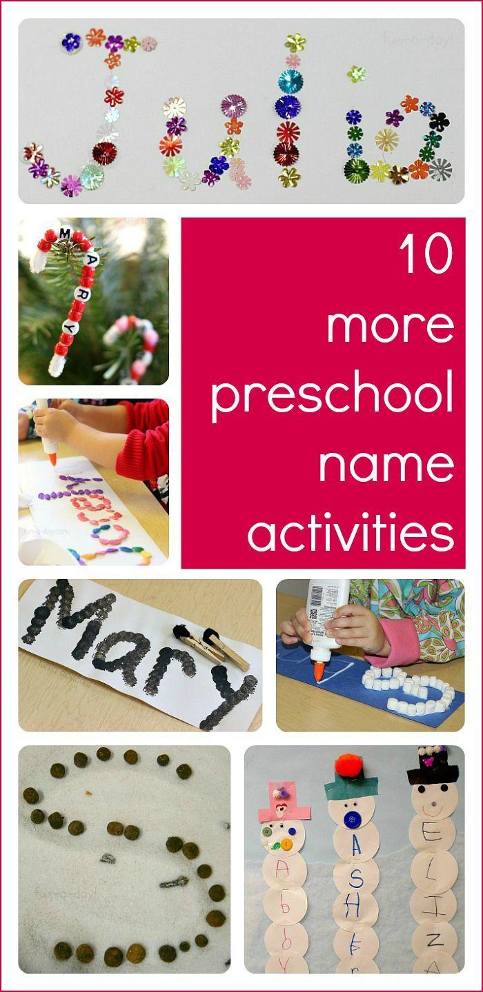 Preschool Crafts Activities  10 More Preschool Name Activities to Try