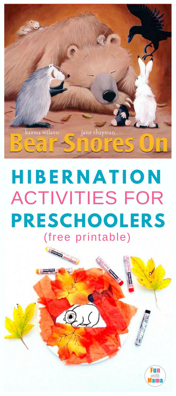Preschool Crafts Activities  Hibernation Activities For Preschoolers Fun with Mama