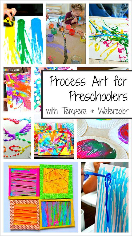 Preschool Projects Ideas  20 Process Art Activities for Preschoolers Using Paint