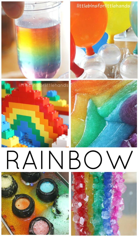 Preschool Projects Ideas  St Patricks Day Rainbow Science Experiments STEM Ideas