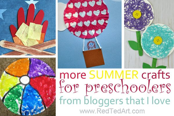 Preschool Summer Crafts Ideas  Summer Crafts for Preschoolers Red Ted Art s Blog
