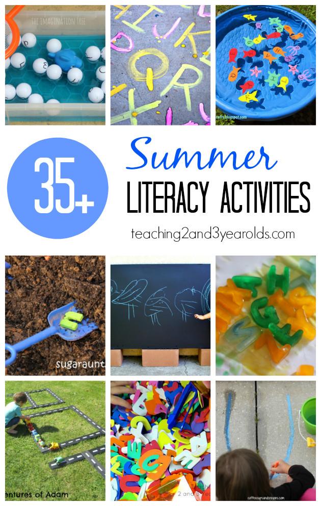 Preschool Summer Crafts Ideas  Preschool Literacy Activities for Summer