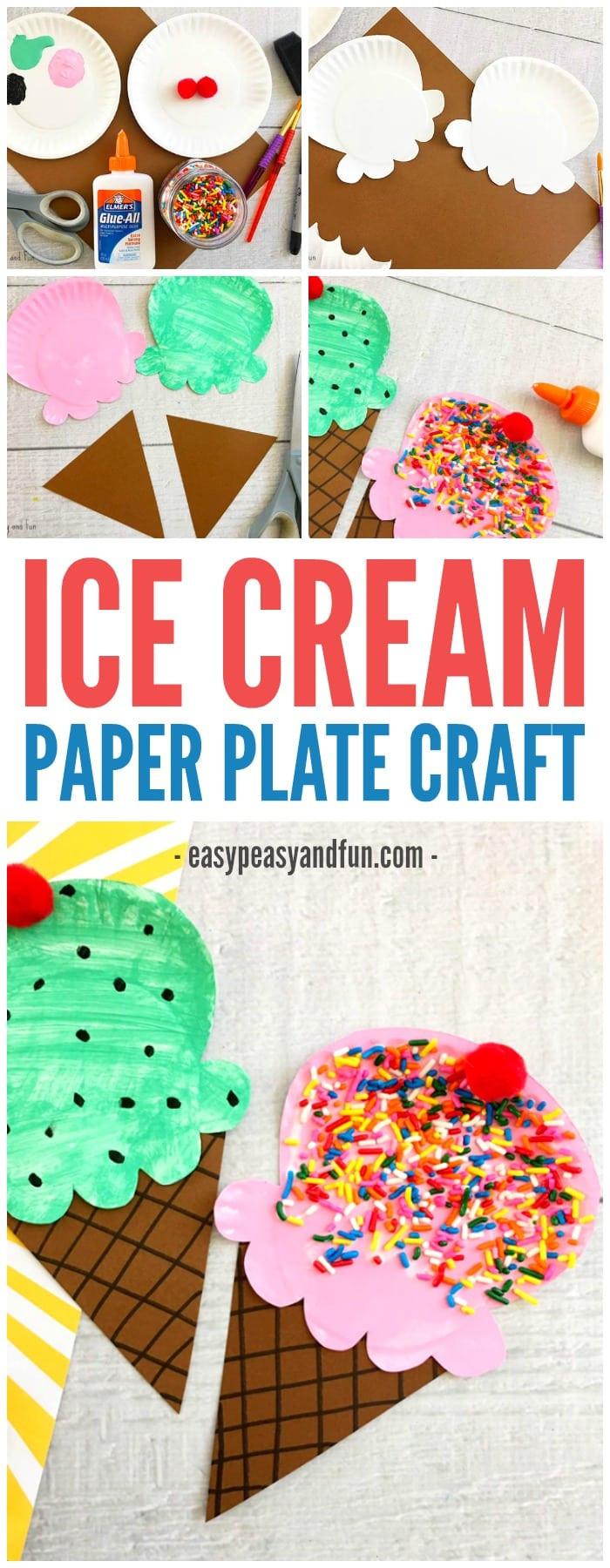Preschool Summer Crafts Ideas  Paper Plate Ice Cream Craft Summer Craft Idea for Kids