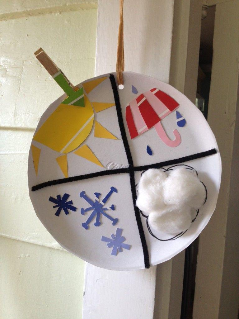 Preschoolers Craft Activities  Toddler weather wheel Activities for A