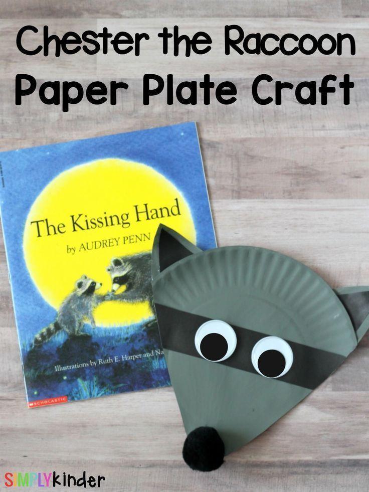 Preschoolers Craft Activities  Chester the Raccoon Paper Plate Craft