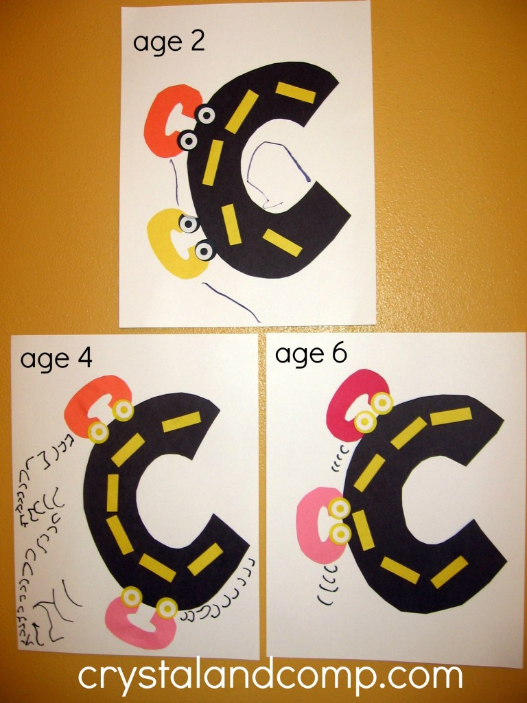 Preschoolers Craft Activities  Letter of the Week C is for Car