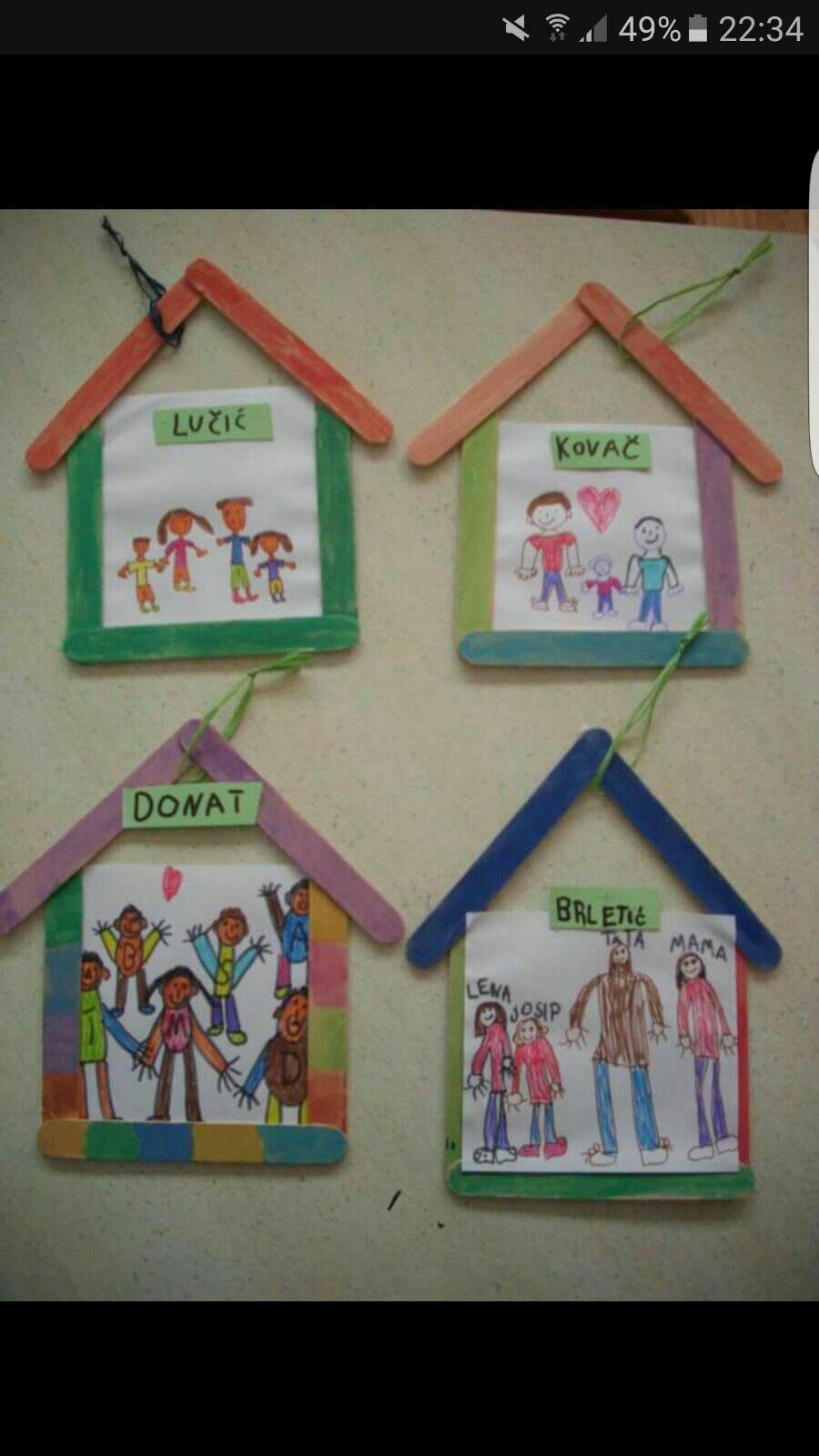Preschoolers Craft Activities  Kennismaking klas family and couples