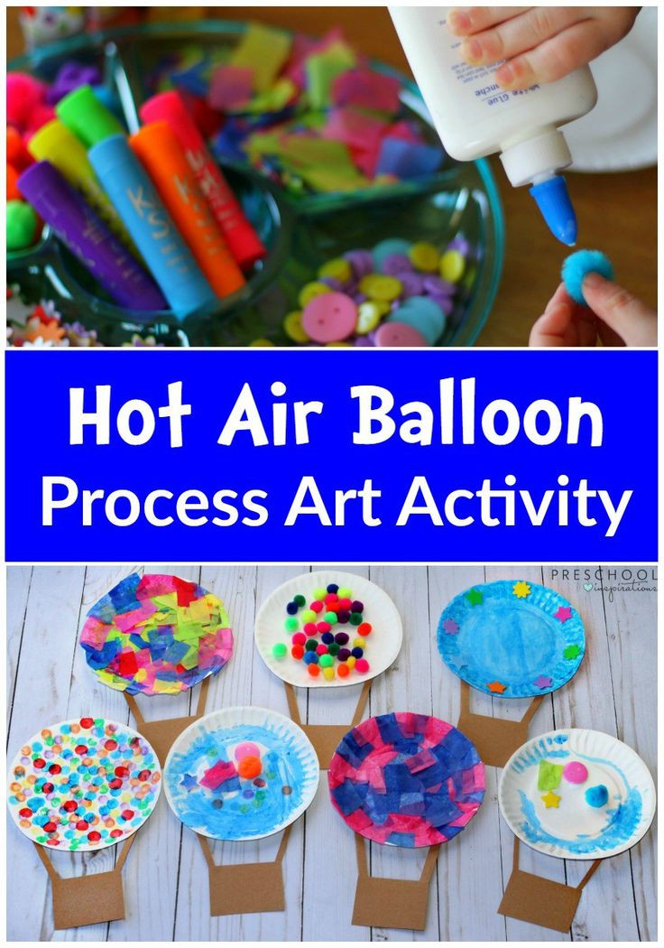 Preschoolers Craft Activities  Hot Air Balloon Process Art Activity