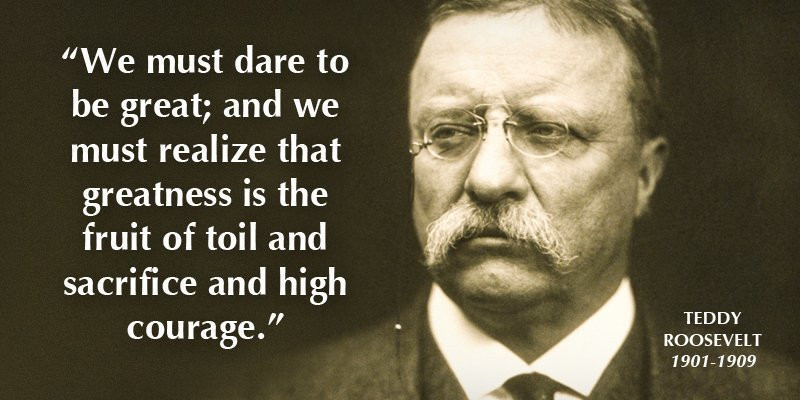 Presidential Quotes On Leadership  Top 12 Theodore Roosevelt Quotes The Man in the Arena